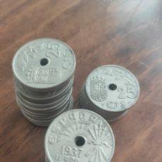 Monedas República: ESPAÑA LOTE DE 35 MONEDAS DE 50 CENTIMOS 1937. Lote 222032015