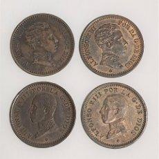 Monedas República: LOTE 4 MONEDAS DE 2 CÉNTIMOS 1904-1905-1911-1912. ESTRELLAS VISIBLES. VER IMÁGENES. Lote 222142771