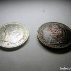 Monedas República: DOS MONEDAS DE LA REPÚBLICA. Lote 222173492