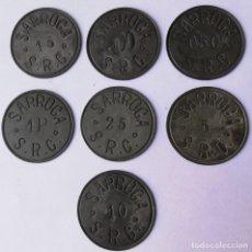 Monedas República: FICHAS LOCALES SARROCA - MONEDA GUERRA CIVIL - 7UNID - BARCELONA. Lote 222314067