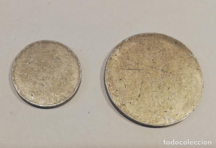 Monedas República: FICHAS LOCALES ARENYS DE MAR - MONEDA GUERRA CIVIL - 2UNID - BARCELONA - Foto 2 - 222421722