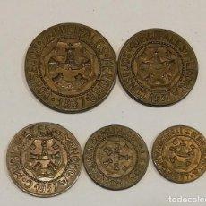 Monedas República: FICHAS LOCALES MENORCA - MONEDA GUERRA CIVIL - 5UNID - REPUBLICA. Lote 222423083