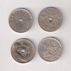 Monedas República: LOTE DE LAS 4 MONEDAS DE 25 CÉNTIMOS DE ESPAÑA 1925, 1927, 1934 Y 1937.. Lote 222550872