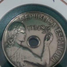 Monedas República: 25 CÉNTIMOS, II REPÚBLICA. EBC. Lote 222625231