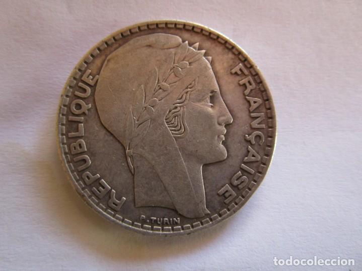 FRANCIA . 20 FRANCOS DE PLATA ANTIGUOS . 1934 . CALIDAD SIN CIRCULAR . MAGNIFICA PATINA (Numismática - España Modernas y Contemporáneas - República)