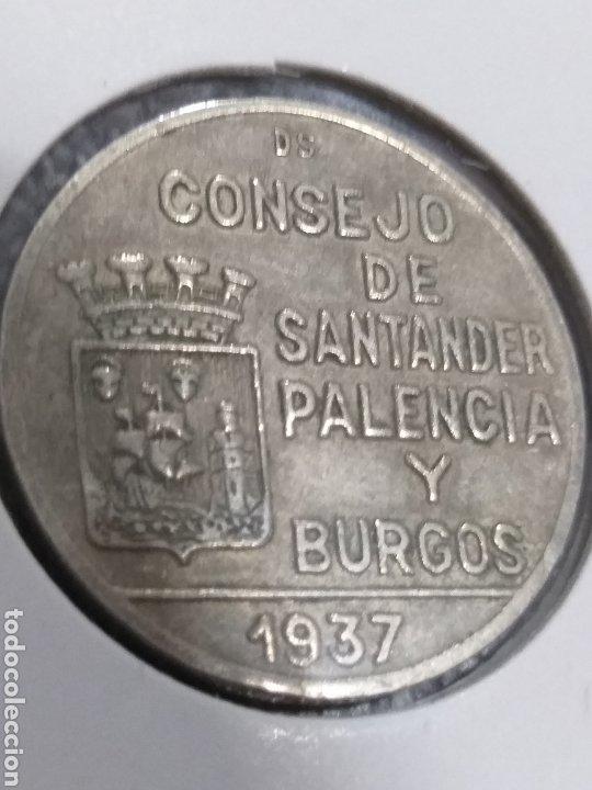 Monedas República: 1 pta, 1937 Consejo Santander, Palencia y Burgos - Foto 3 - 222641793
