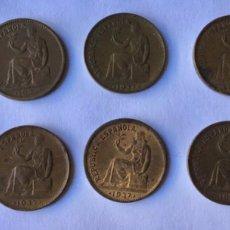 Monedas República: LOTE MONEDAS 50 CÉNTIMOS 1937. Lote 222662172