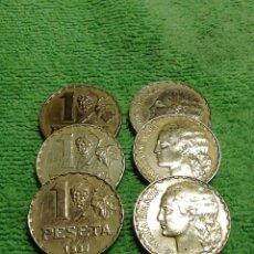 Monedas República: LOTE 6 PESETAS DE 1937 REPÚBLICA ESPAÑOLA. MUY BUEN ESTADO DE CONSERVACIÓN. Lote 222677092