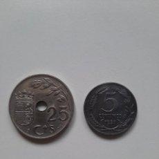 Monedas República: FASCISMO VS REPUBLICA 1937 25 VS 5 CTS MONEDAS BUEN ESTADO. Lote 223607202