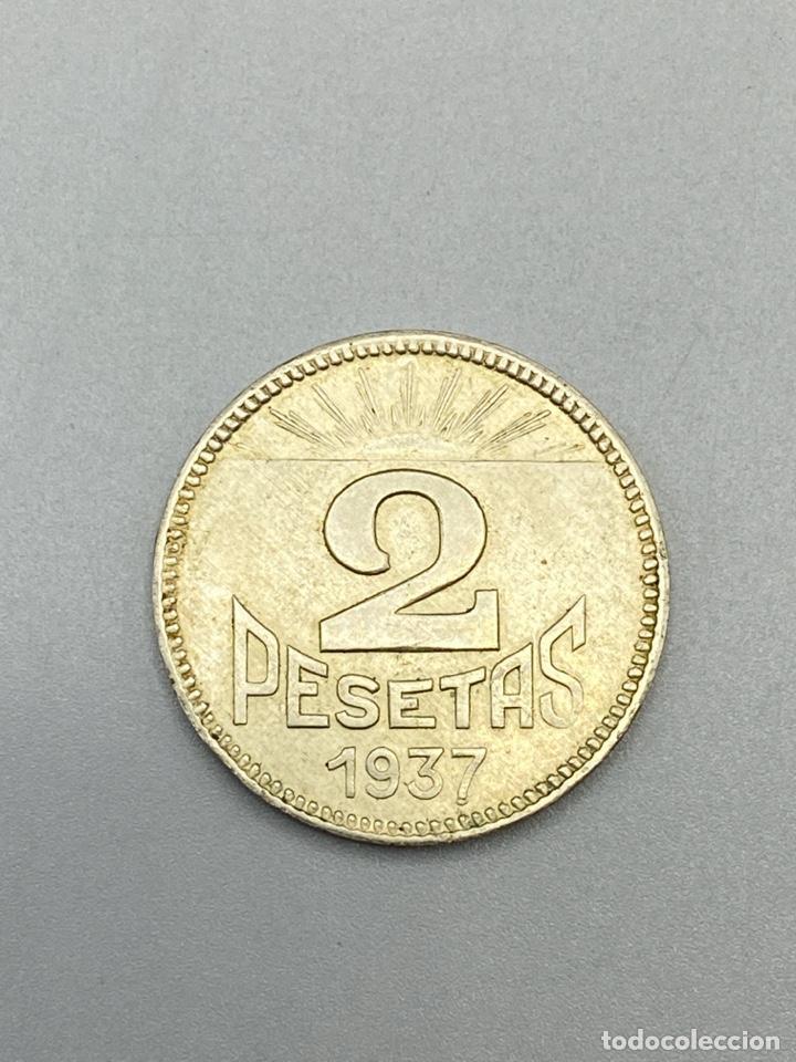 Monedas República: MONEDA. CONSEJO DE ASTURIAS Y LEON. 2 PESETAS. 1937. S/C. VER FOTOS - Foto 3 - 224154246