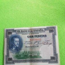 Monedas República: BILLETE DE 100 PESETAS DE 1925..MADRID 1 DE JULIO DE 1925. MUY BIEN CONSERVADO. Lote 224825370