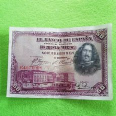Monedas República: BILLETE DE 50 PESETAS DE 1928.. Lote 224826470