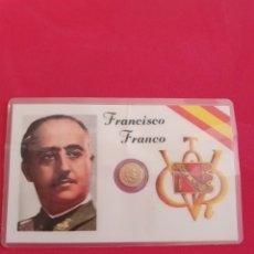 Monete Repubblica: CARNET ORIGINAL DE FRANCISCO FRANCO CON MONEDA DE 100 PESETAS ORO. Lote 224840298