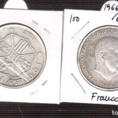 Monedas República: MONEDAS DE PLATA 100 PESETAS PLATA 1966/67LA QUE VES SE VENDE UNA. Lote 225342642