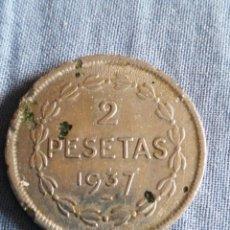 Monedas República: DOS PESETAS GOBIERNO DE EUZKADI. Lote 226223275