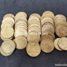 Monedas República: LOTE 50 MONEDAS II REPUBLICA 1 PESETA 1937 BC-MBC. Lote 226233910