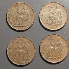 Monnaies République: LOTE 4 MONEDAS DE 50 CÉNTIMOS 1937. Lote 227572749