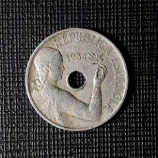 Monete Repubblica: II REPÚBLICA 25 CENTIMOS 1934 MBC. Lote 229589280