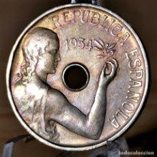 Monete Repubblica: AA983. EBC. 25 CÉNTIMOS 1934. Lote 232912170