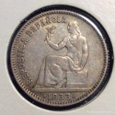 Monedas República: 1 PESETA REPUBLICA ESPAÑOLA 1933. *3=4. GIRADA. Lote 232998295