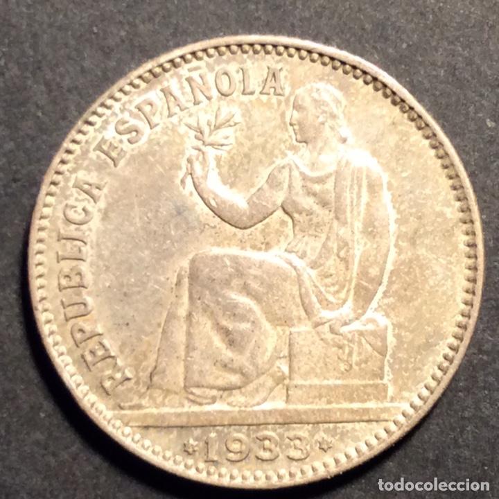 Monedas República: 1 Peseta Republica Española 1933. *3=4. - Foto 3 - 233001810