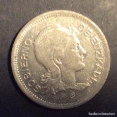 Monedas República: 1 PESETA GOBIERNO DE EUZKADI. 1937. Lote 233012990
