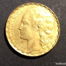 """Monedas República: 1 PESETA """" LA RUBIA"""" REPUBLICA ESPAÑOLA 1937. Lote 233018950"""
