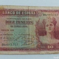 Monedas República: BILLETE 10 PESETAS 1935 REPUBLICA ESPAÑOLA. Lote 236468655