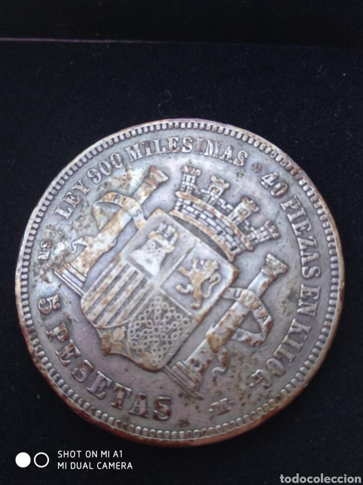 Monedas República: Moneda original 5 Pesetas 1870 *18*70 Madrid SN M., Muy bien conservada - Foto 5 - 237810600