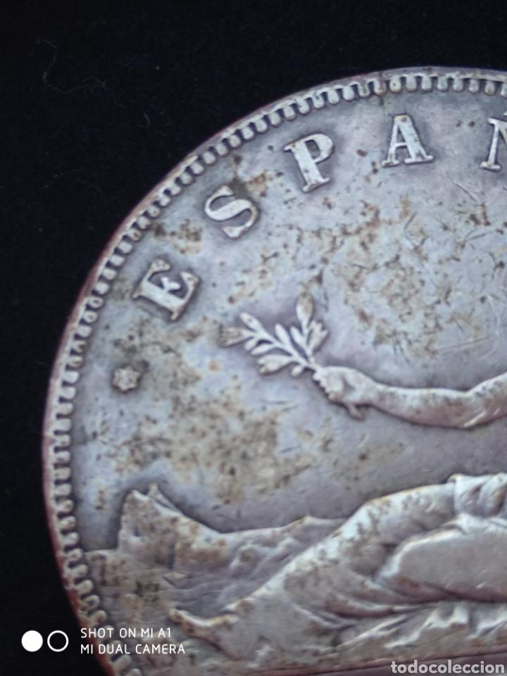 Monedas República: Moneda original 5 Pesetas 1870 *18*70 Madrid SN M., Muy bien conservada - Foto 6 - 237810600