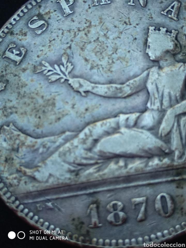 Monedas República: Moneda original 5 Pesetas 1870 *18*70 Madrid SN M., Muy bien conservada - Foto 8 - 237810600