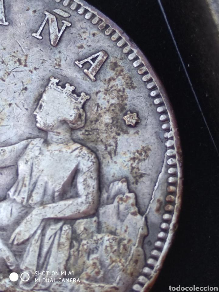 Monedas República: Moneda original 5 Pesetas 1870 *18*70 Madrid SN M., Muy bien conservada - Foto 9 - 237810600