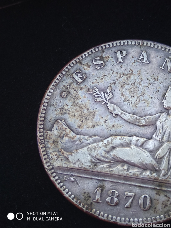 Monedas República: Moneda original 5 Pesetas 1870 *18*70 Madrid SN M., Muy bien conservada - Foto 10 - 237810600