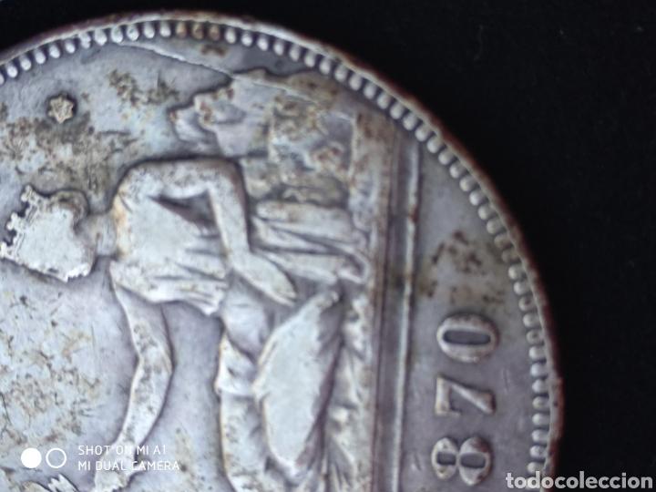 Monedas República: Moneda original 5 Pesetas 1870 *18*70 Madrid SN M., Muy bien conservada - Foto 21 - 237810600