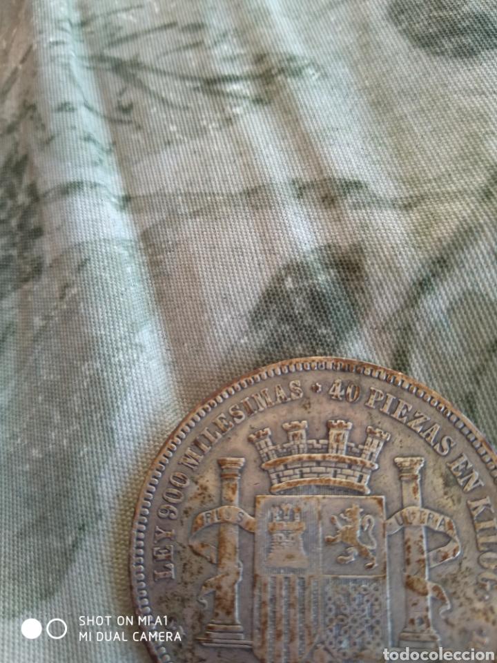 Monedas República: Moneda original 5 Pesetas 1870 *18*70 Madrid SN M., Muy bien conservada - Foto 22 - 237810600