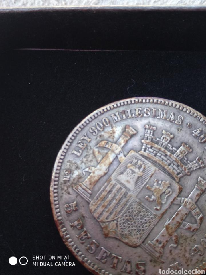 Monedas República: Moneda original 5 Pesetas 1870 *18*70 Madrid SN M., Muy bien conservada - Foto 23 - 237810600