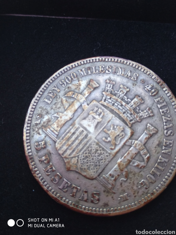 Monedas República: Moneda original 5 Pesetas 1870 *18*70 Madrid SN M., Muy bien conservada - Foto 24 - 237810600