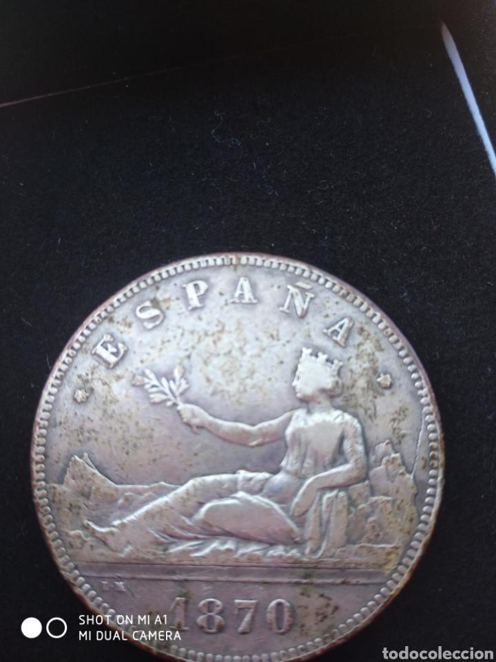Monedas República: Moneda original 5 Pesetas 1870 *18*70 Madrid SN M., Muy bien conservada - Foto 25 - 237810600