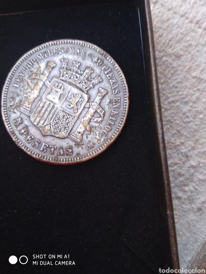 Monedas República: Moneda original 5 Pesetas 1870 *18*70 Madrid SN M., Muy bien conservada - Foto 28 - 237810600