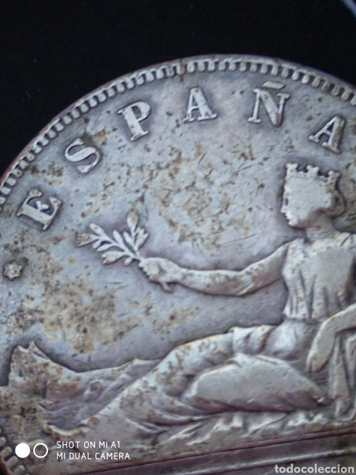 Monedas República: Moneda original 5 Pesetas 1870 *18*70 Madrid SN M., Muy bien conservada - Foto 30 - 237810600
