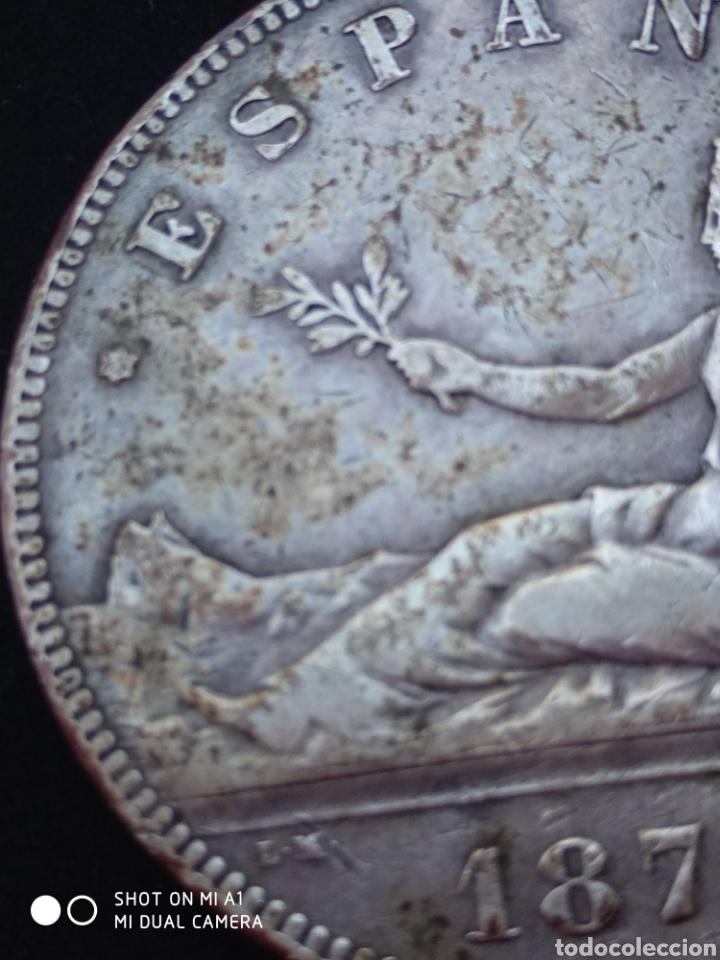 Monedas República: Moneda original 5 Pesetas 1870 *18*70 Madrid SN M., Muy bien conservada - Foto 32 - 237810600