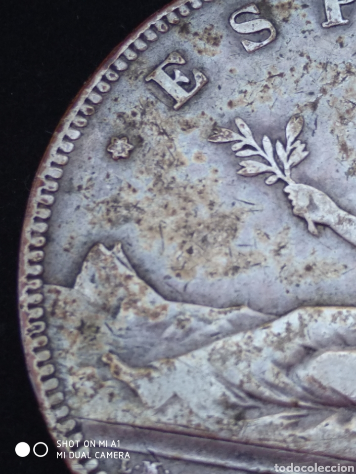 Monedas República: Moneda original 5 Pesetas 1870 *18*70 Madrid SN M., Muy bien conservada - Foto 33 - 237810600