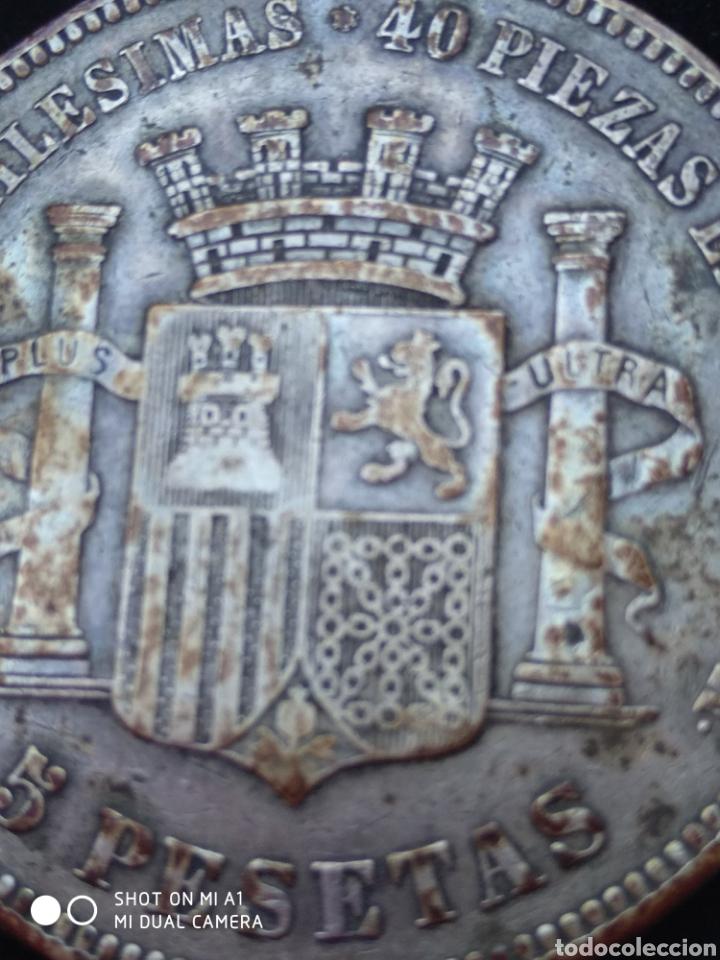 Monedas República: Moneda original 5 Pesetas 1870 *18*70 Madrid SN M., Muy bien conservada - Foto 34 - 237810600