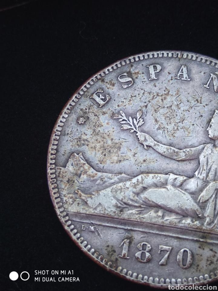 Monedas República: Moneda original 5 Pesetas 1870 *18*70 Madrid SN M., Muy bien conservada - Foto 49 - 237810600