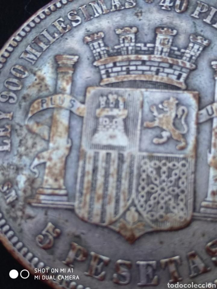 MONEDA ORIGINAL 5 PESETAS 1870 *18*70 MADRID SN M., MUY BIEN CONSERVADA (Numismática - España Modernas y Contemporáneas - República)