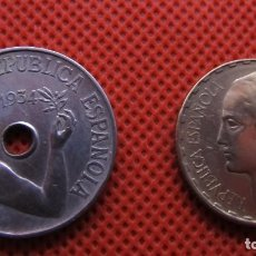 Monedas República: LOTE DE DOS MONEDAS REPUBLICANAS: 1 PESETA Y 25 CÉNTIMOS.. Lote 238657970