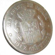 Monedas República: ALFONSO XII -10 C -1878--. Lote 238738220