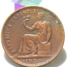 Monedas República: MONEDA DE 50 CÉNTIMOS DE 1937 - II REPÚBLICA ESPAÑOLA. Lote 243066970