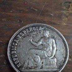 Monedas República: UNA PESETA, REPÚBLICA ESPAÑOLA 1933 PLATA, ESTRELLAS 3 4. Lote 243762610