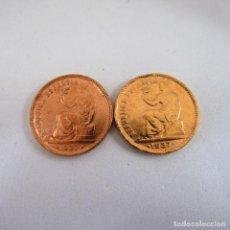 Monedas República: LOTE DE DOS MONEDAS DE 50 CENTIMOS. II REPUBLICA. 1937. COBRE. MBC.. Lote 243946825
